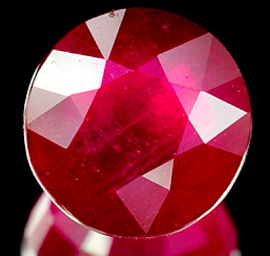 Rubino Del Madagascar Taglio Brillante Tondo Da 3 31 Carati