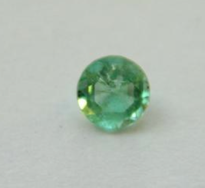 emerald 018 Smeraldo naturale colombiano taglio rotondo da 0,18 carati